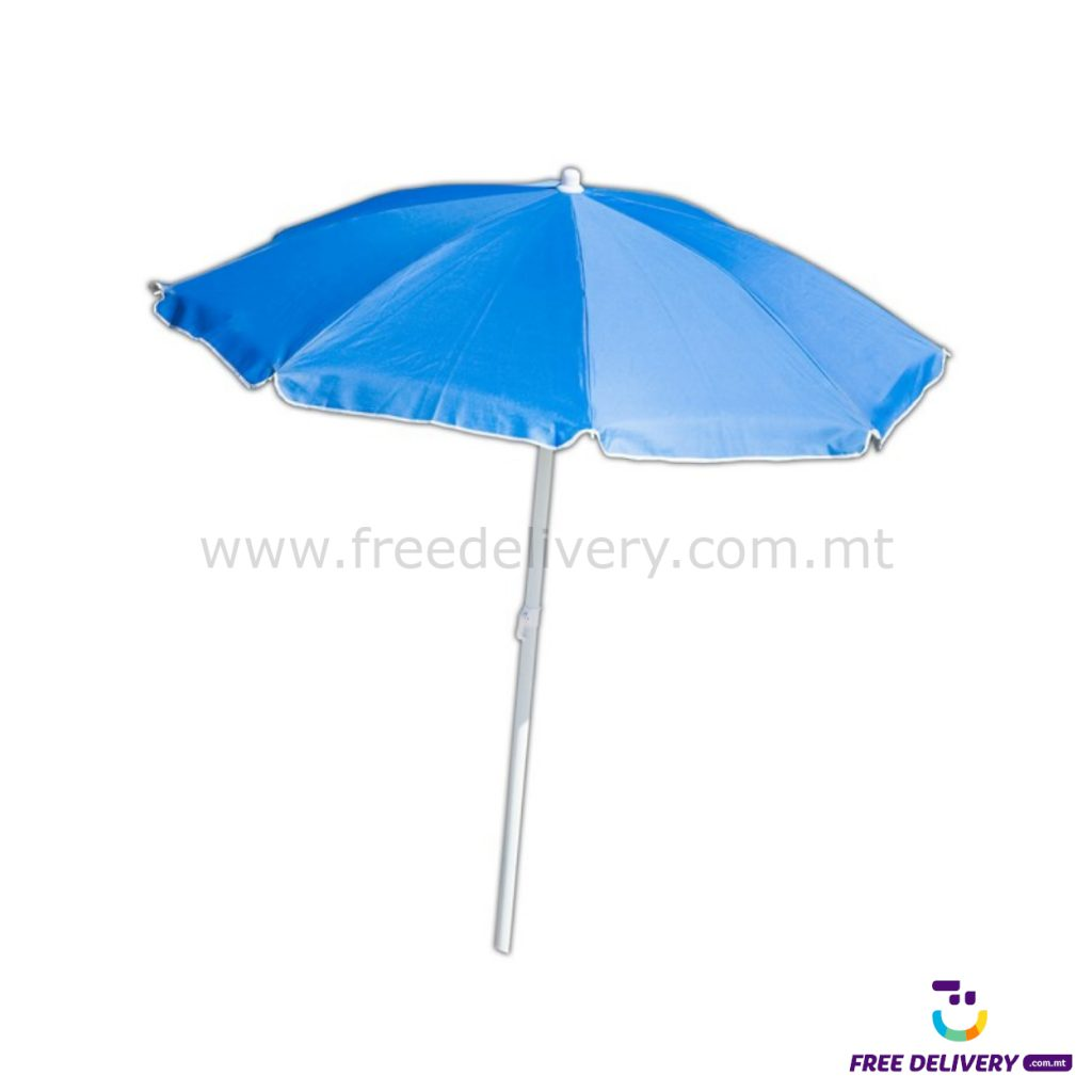 2M FLEXI RIB BEACH UMBRELLA CREAM/BLUE