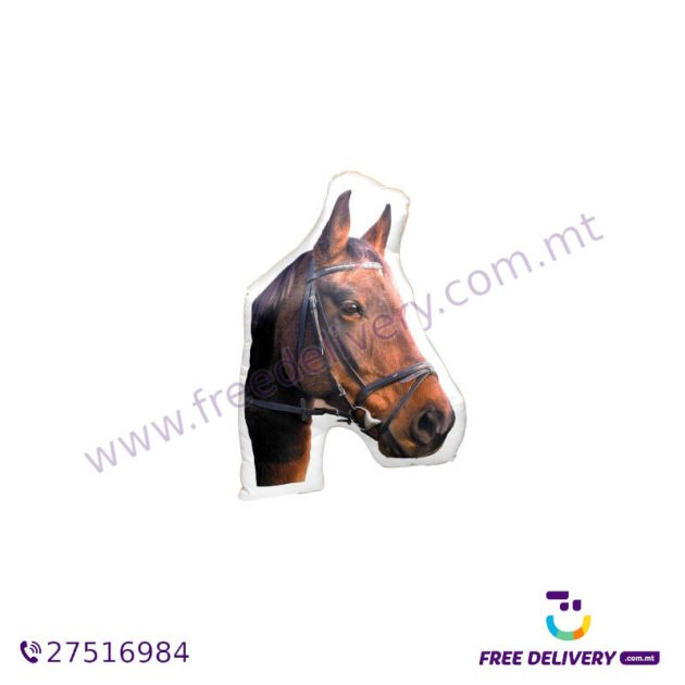 ADORABLE BROWN HORSE SHAPED CUSHION AC1059
