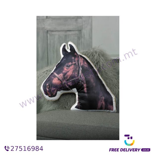ADORABLE BLACK HORSE SHAPED CUSHION AC1061