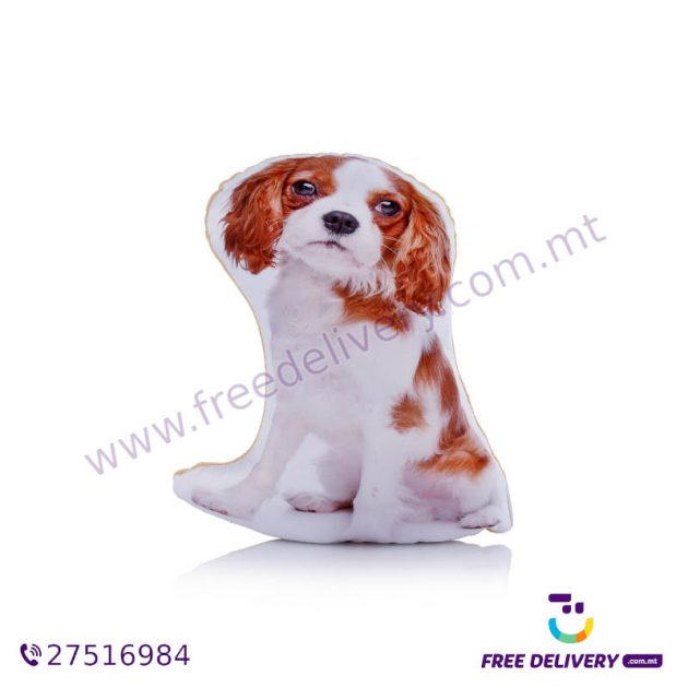 ADORABLE BLENHEIM KING CHARLES CAVALIER SPANIEL SHAPED MIDI CUSHION ACM1005