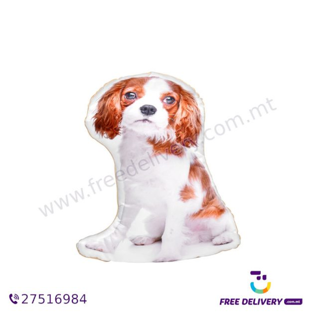 ADORABLE BLENHEIM CAVALIER KING CHARLES SPANIEL SHAPED CUSHION AC1010