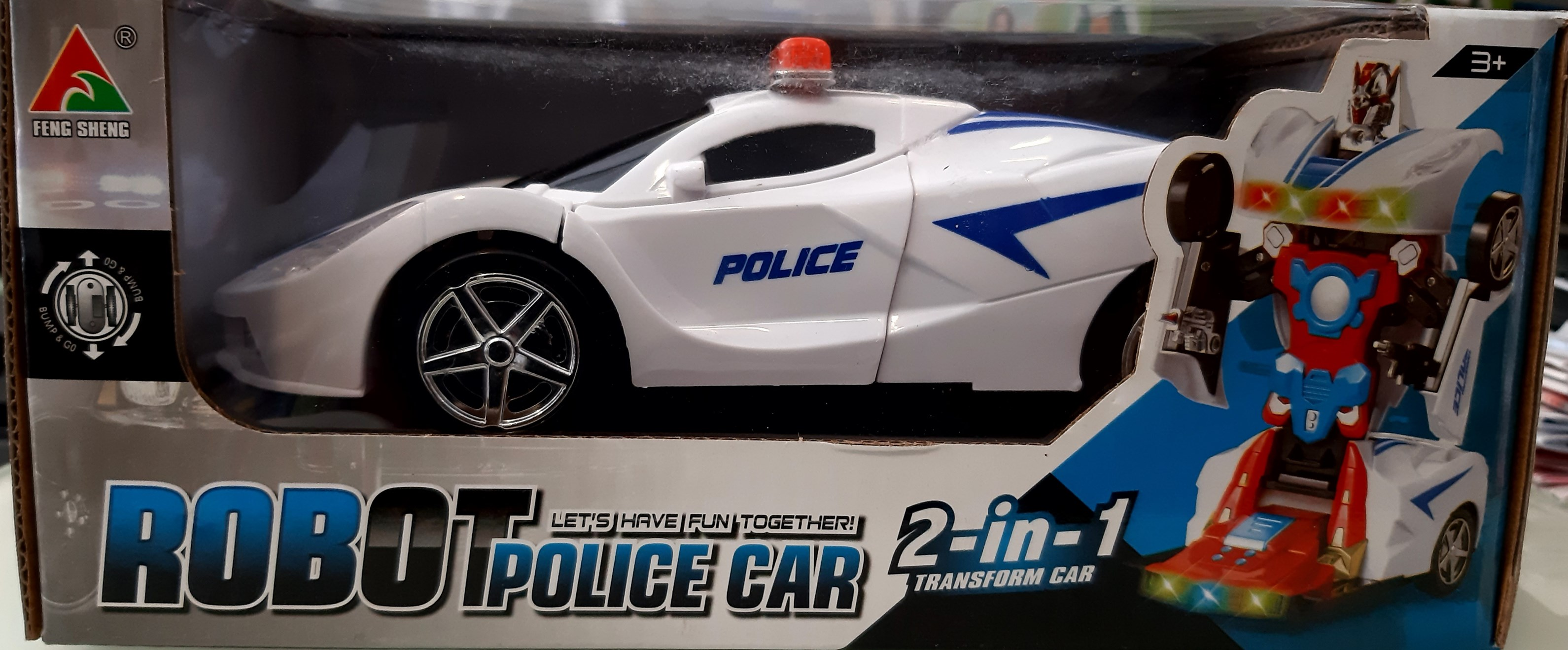 TOY ROBOT POLICE CAR TO920338
