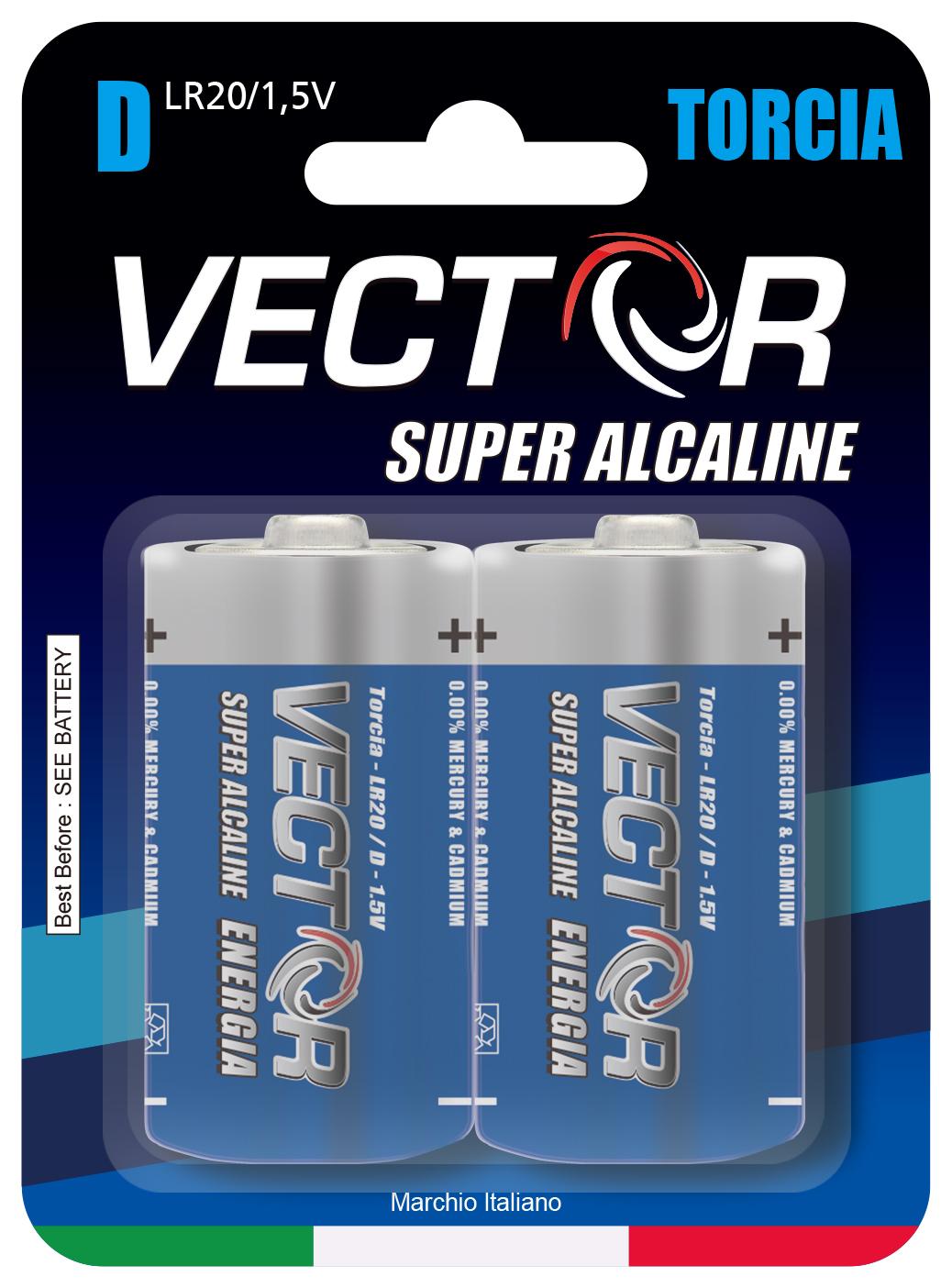 VECTOR C BATTERIES SUPER ALKALINE. VE040089
