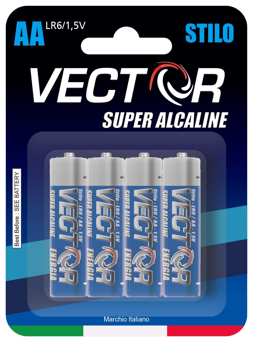 VECTOR AA BATTERIES SUPER ALKALINE . VE040058