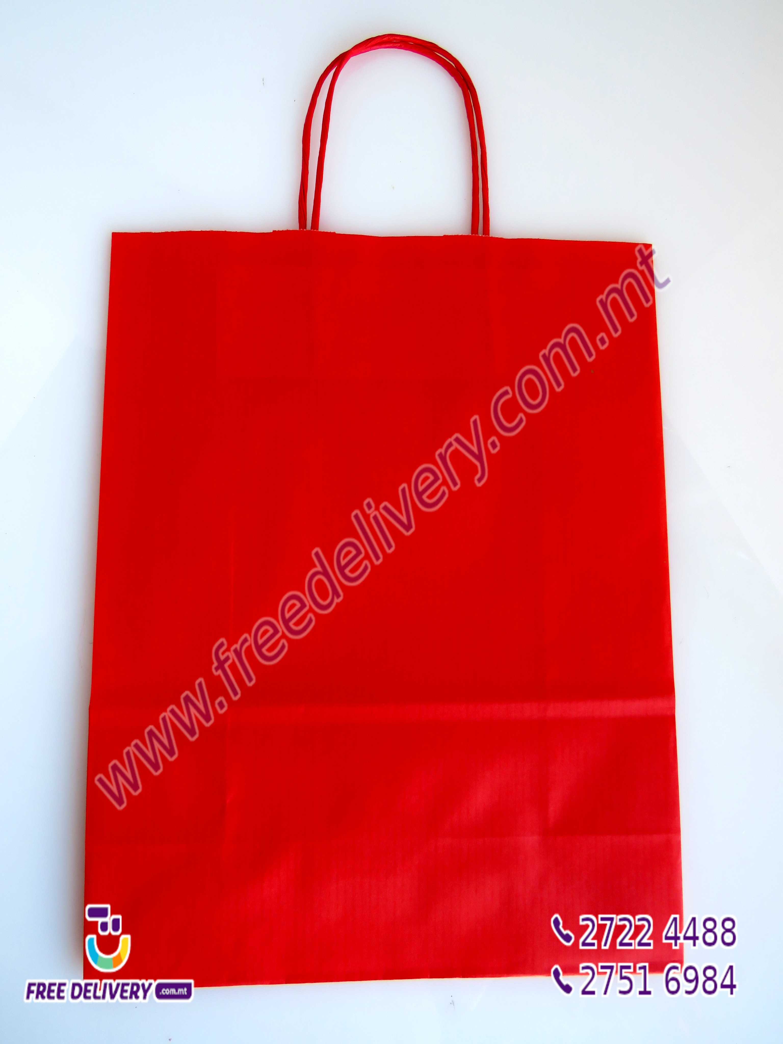 RED PAPER GIFT BAG 000071