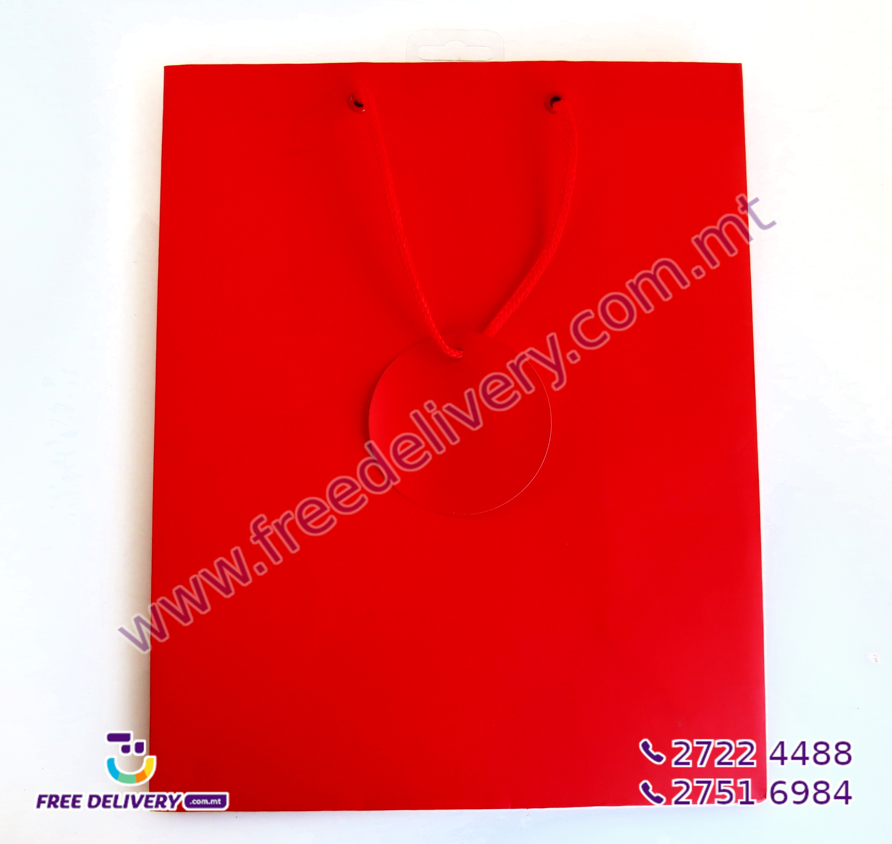 RED GIFT BAG 457722