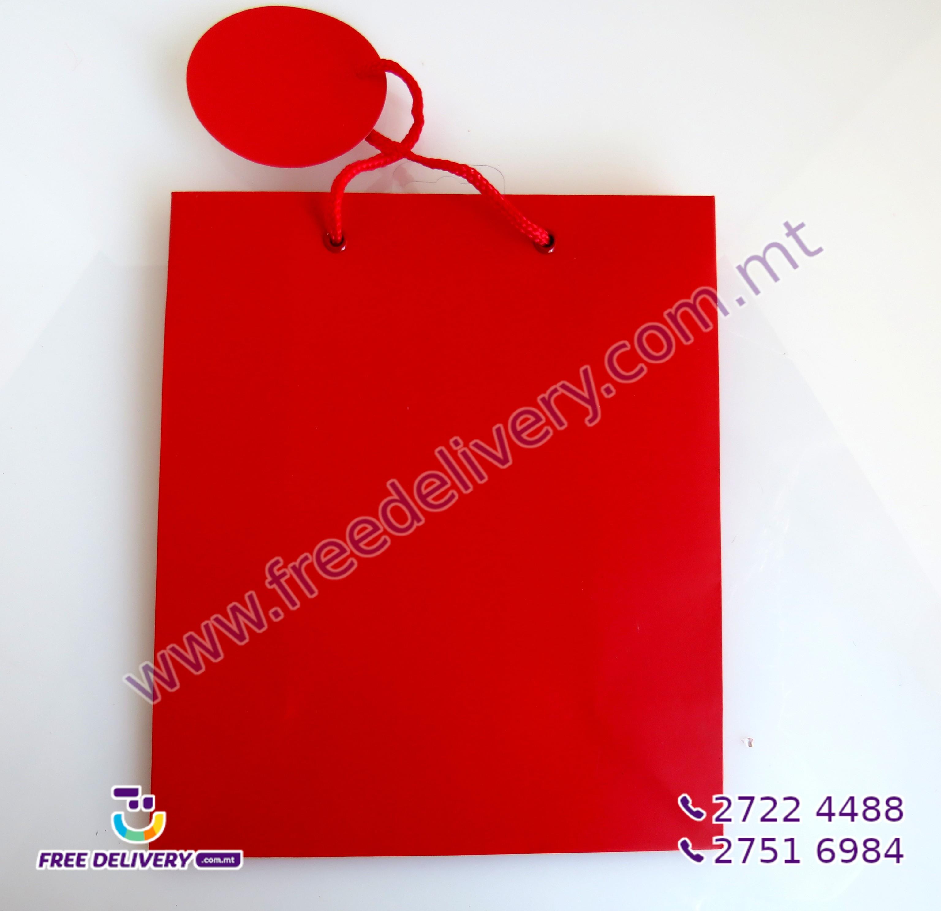 RED COLORED MEDIUM BAG 872153
