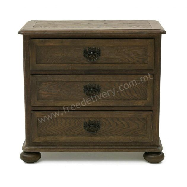 FRENCH BEDSIDE 3 DRAWERS. DJ3
