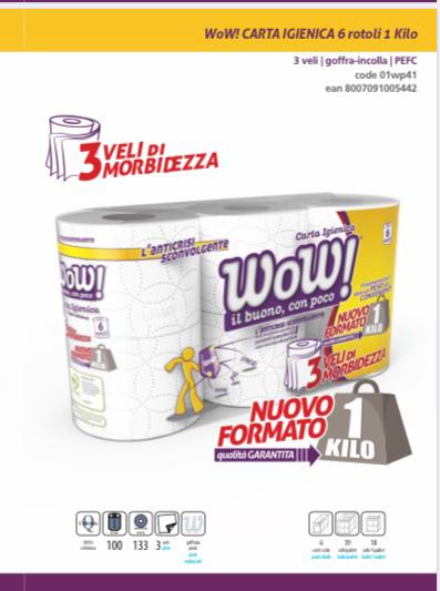 WOW TOILET PAPER.  SPECIAL OFFER. 2 PACKETS OF 6 MAXI ROLLS EACH. 3PLY (12 MAXI ROLLS IN TOTAL)