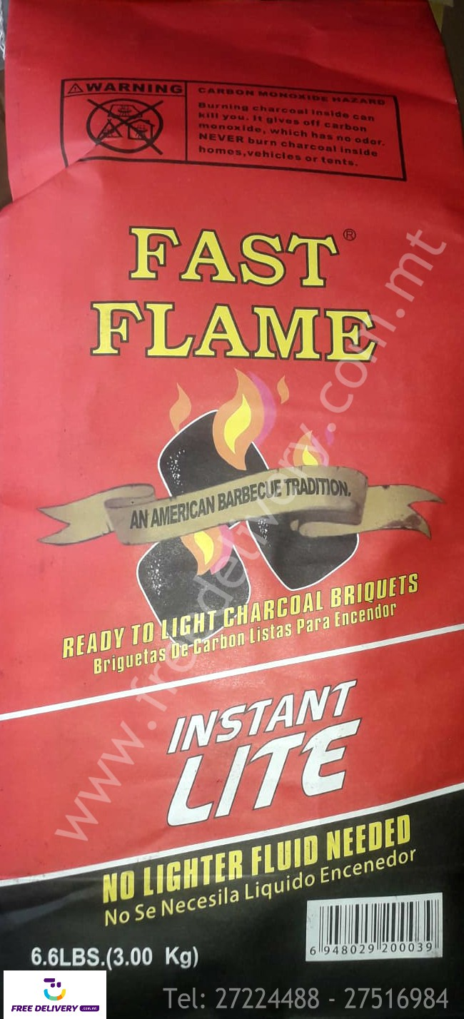 BARBECUE PACKAGE. 2 Bags of Fast Flame Charcoal + 2 Packets of Fire Starters