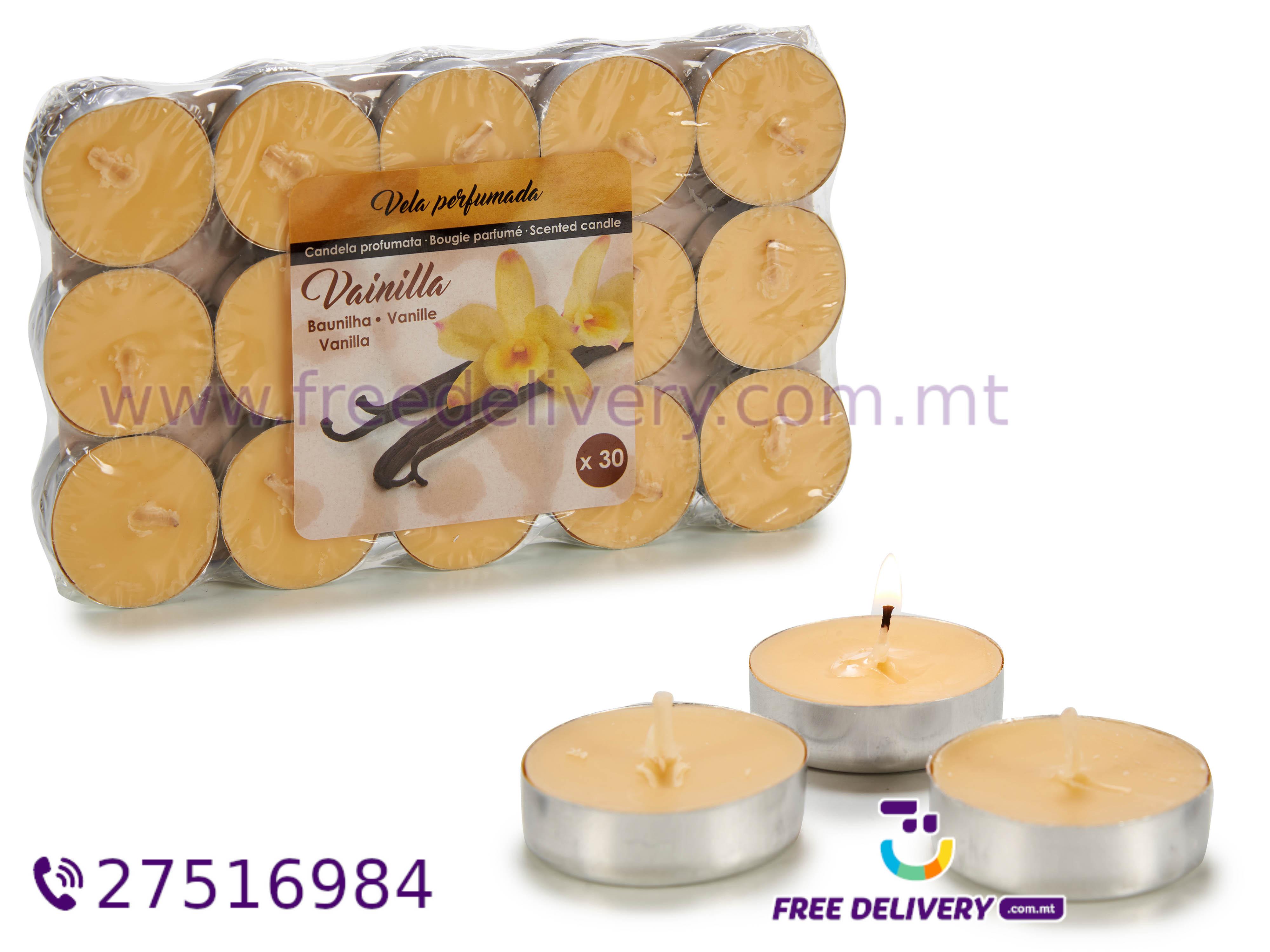 30 VANILLA TEA LIGHT CANDLES AR187468