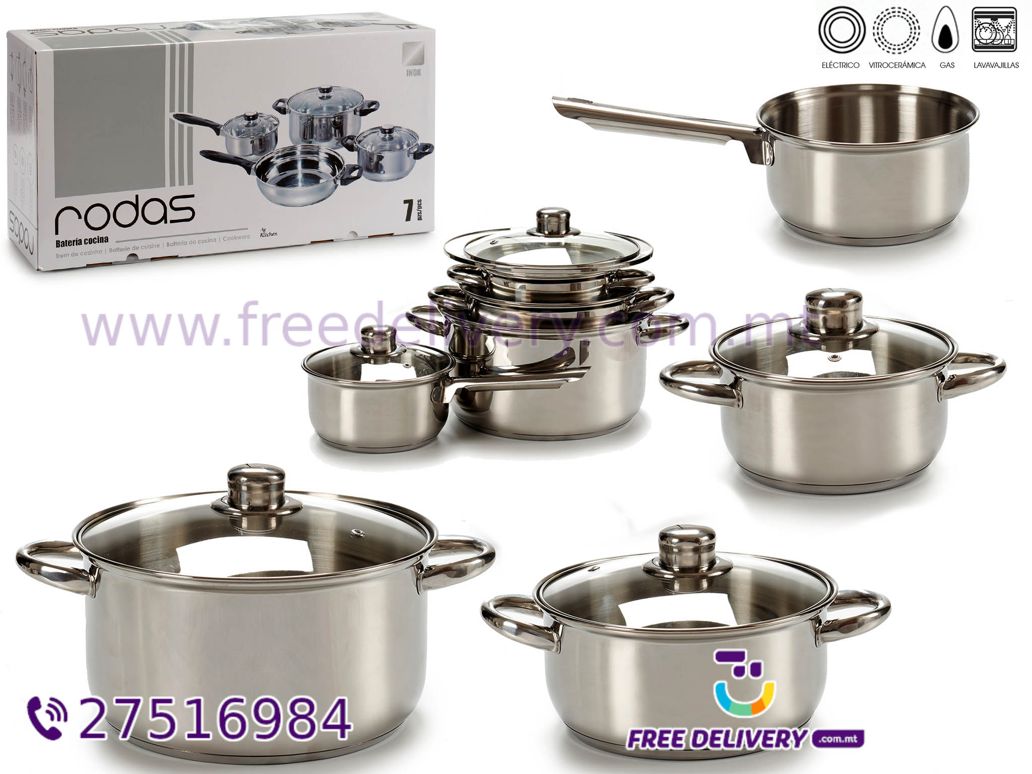 7 PCS STAINLESS STEEL COOKWARE AR240842