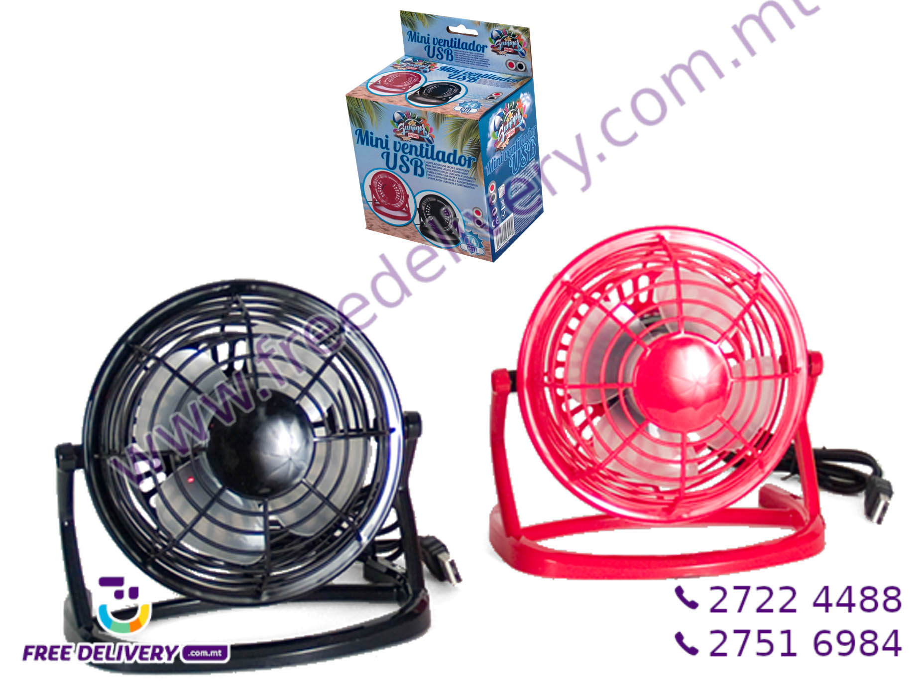 MINI USB TABLE FAN 14CM GE430579