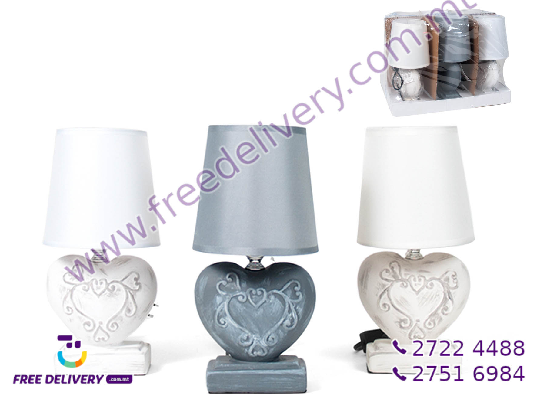 HEART TABLE LAMP GE631006