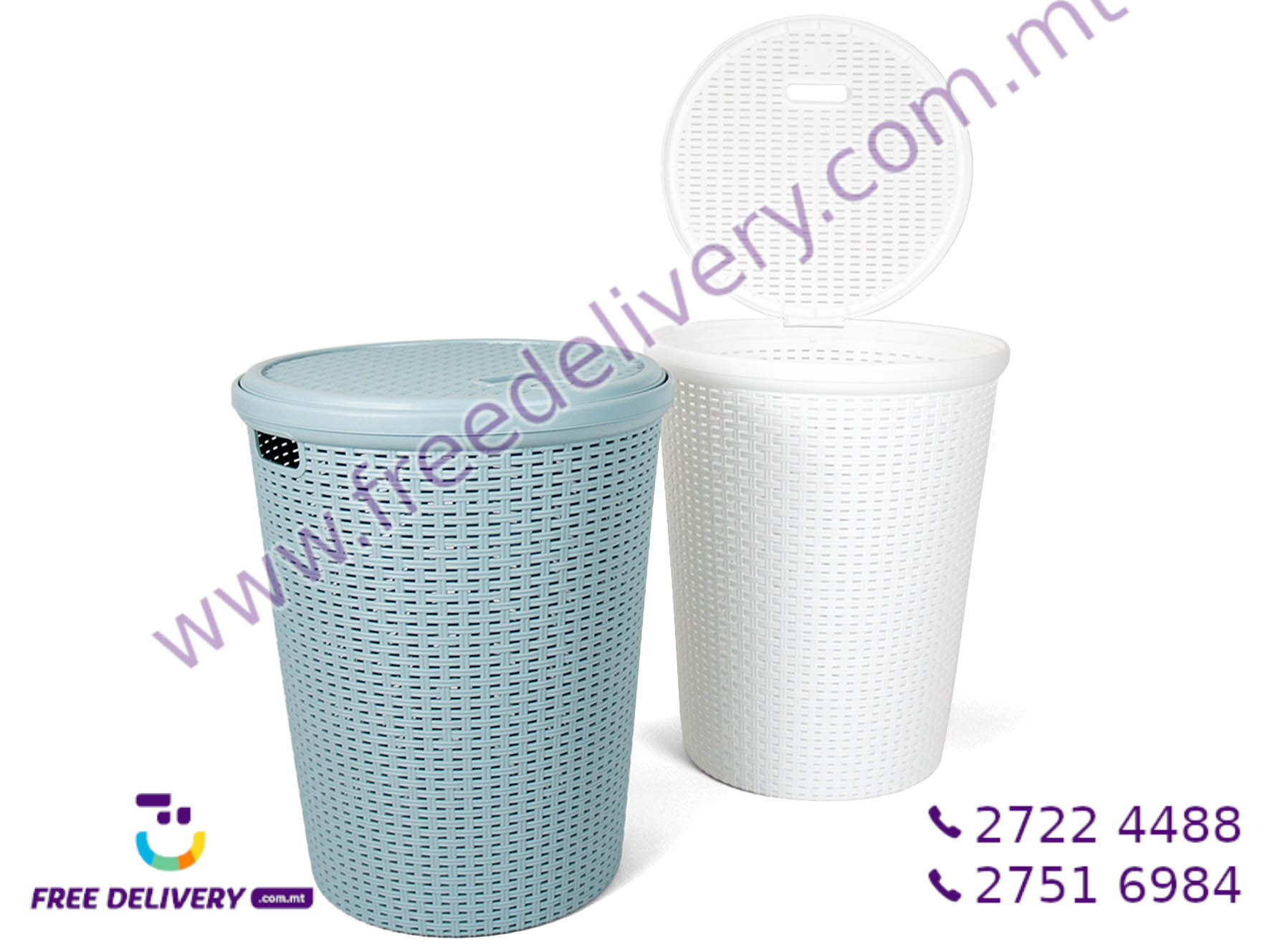 LAUNDRY BASKET WITH LID 52X41CM GE701839