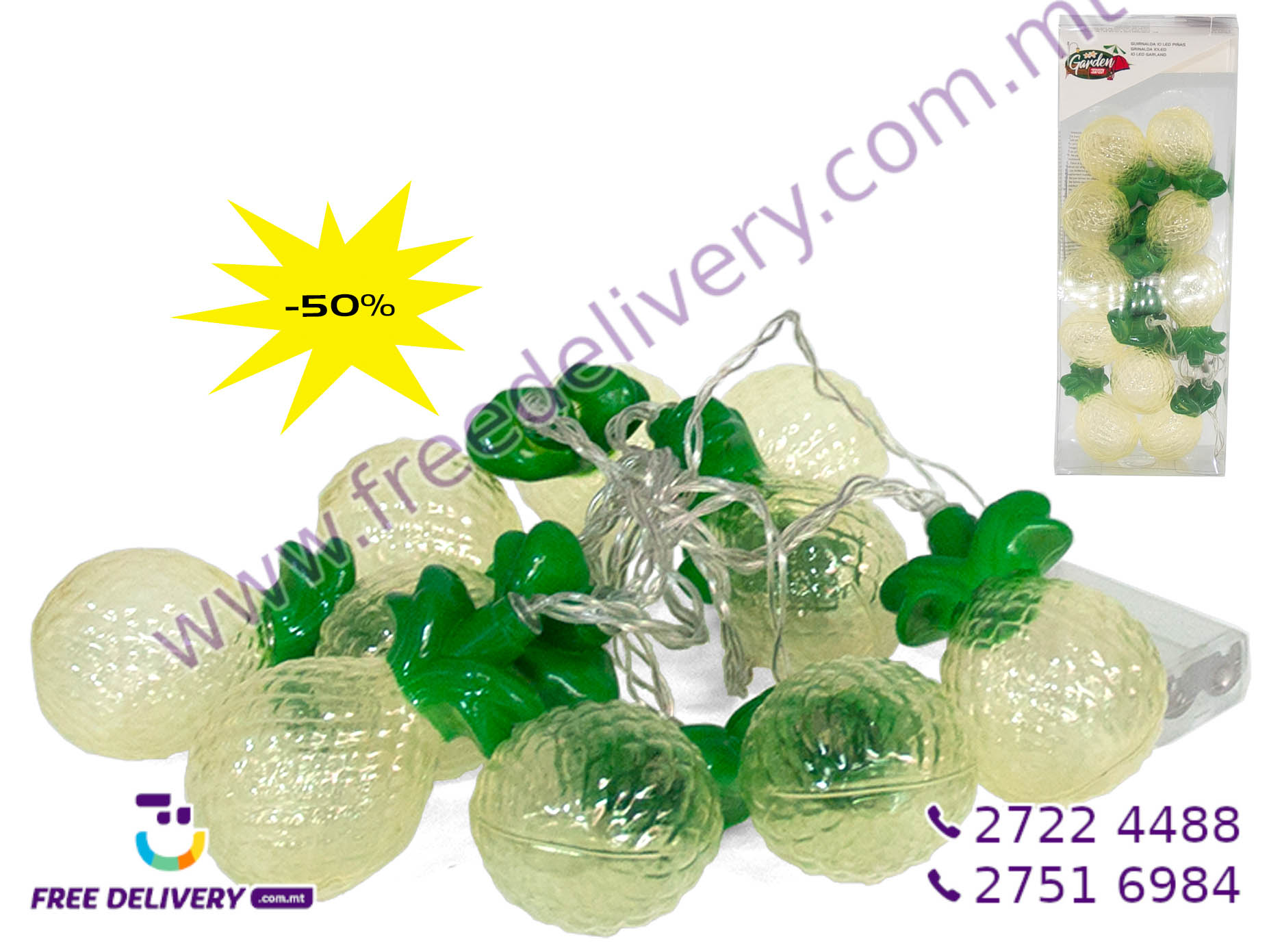 10 LED PINEAPPLE GARLAND GE728034