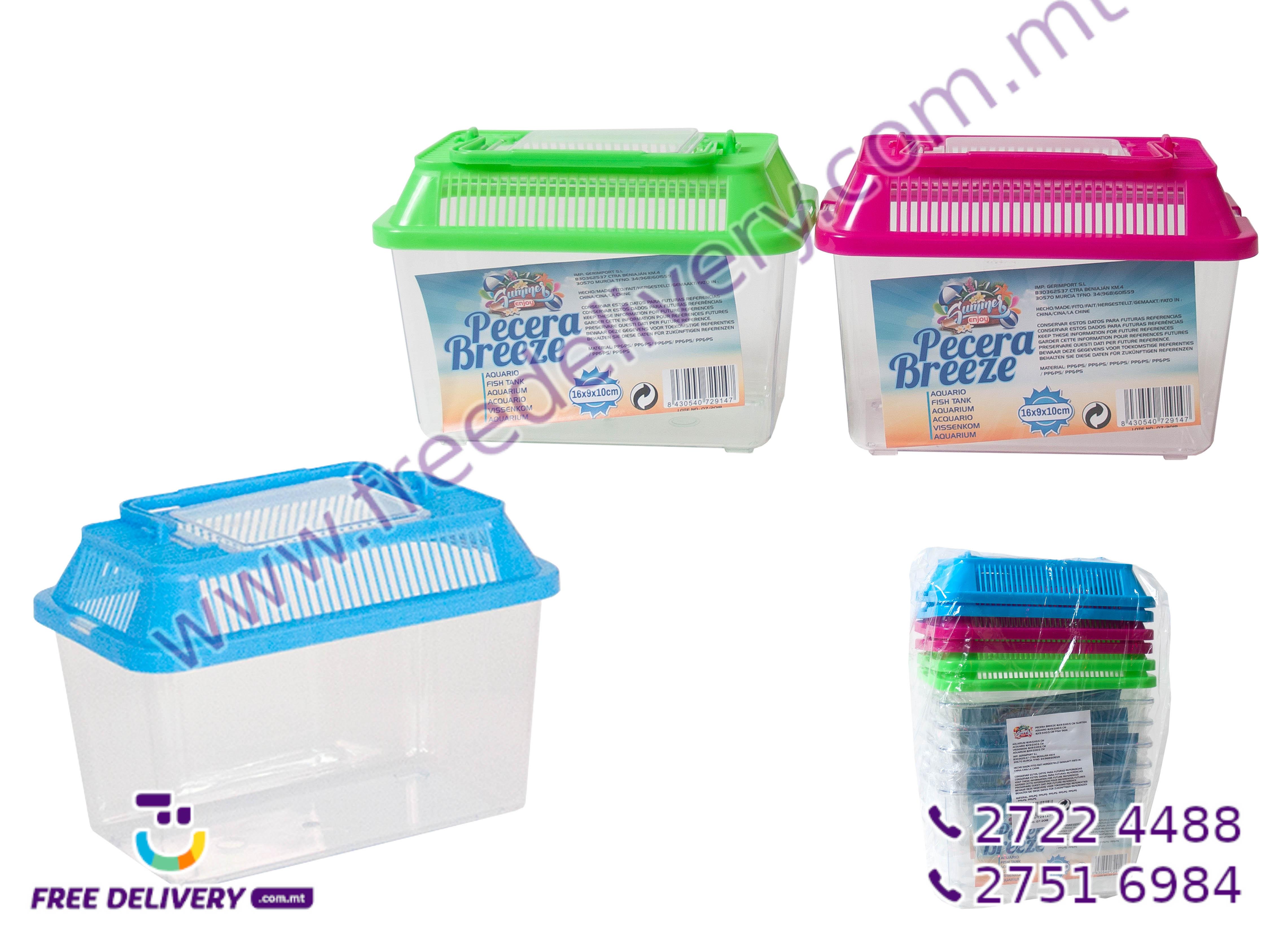 PLASTIC FISH TANK 27CMx17CMx16.5CM GE729208