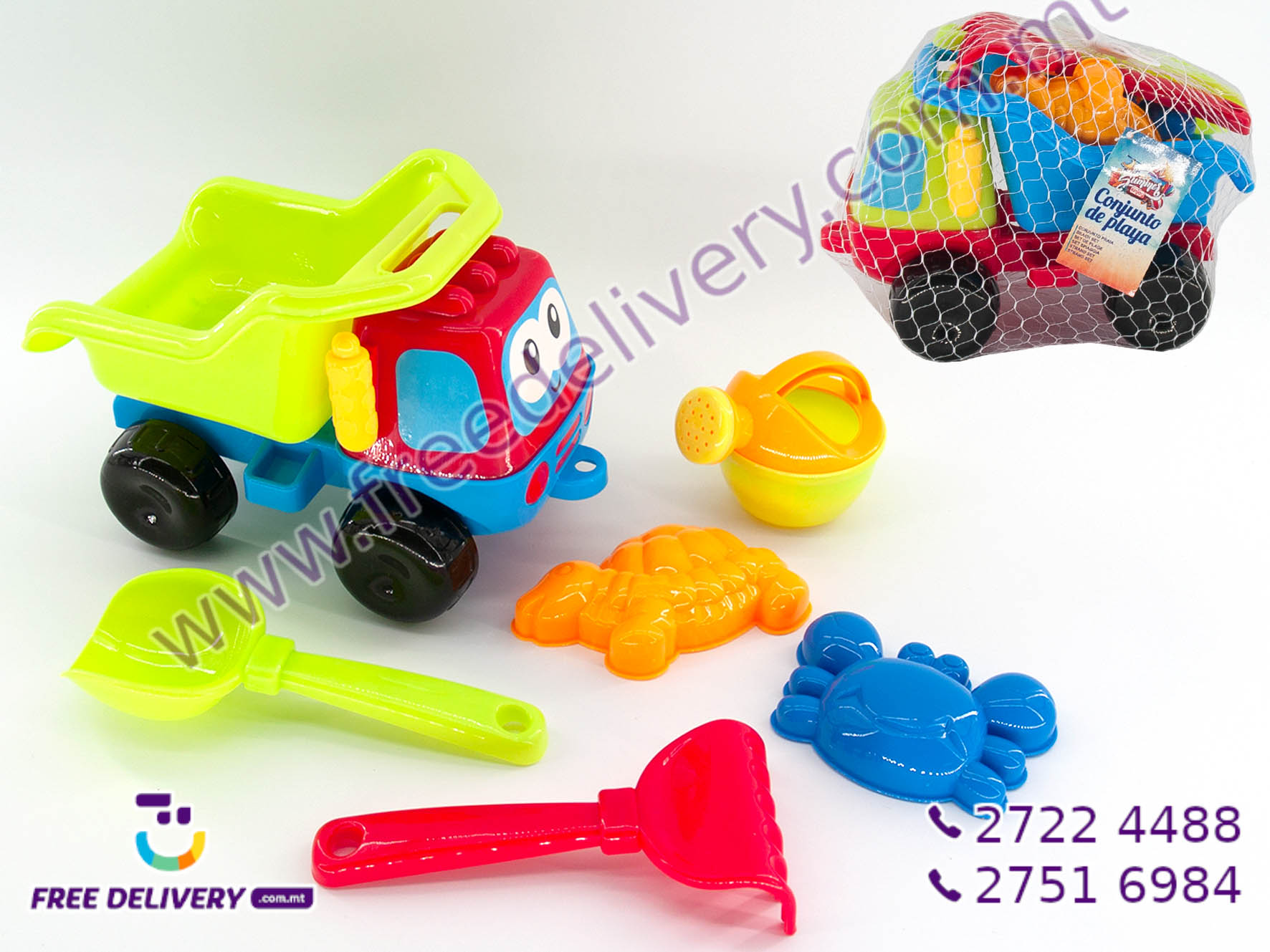 6 PIECE SAND TOY TRUCK SET GE755993