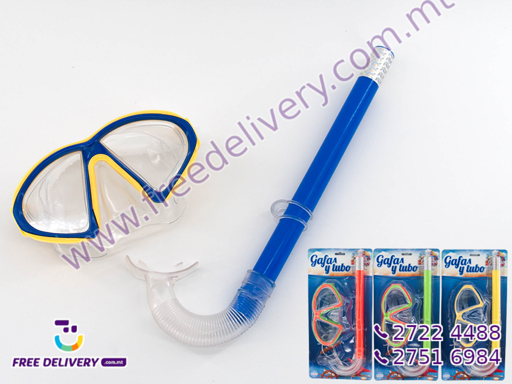 SWIMMING GOGGLES AND RESPIRATOR GE756099