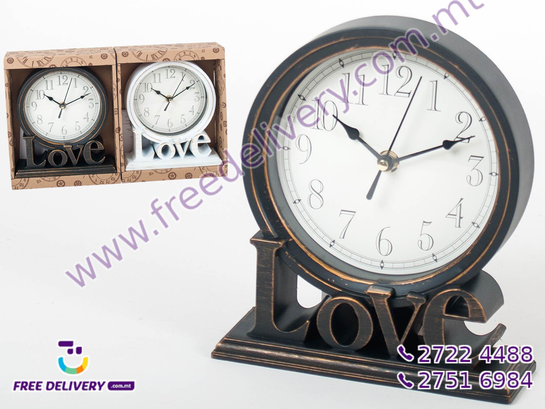 LOVE MANTLE CLOCK 20.6CMx18.6CM GE868471