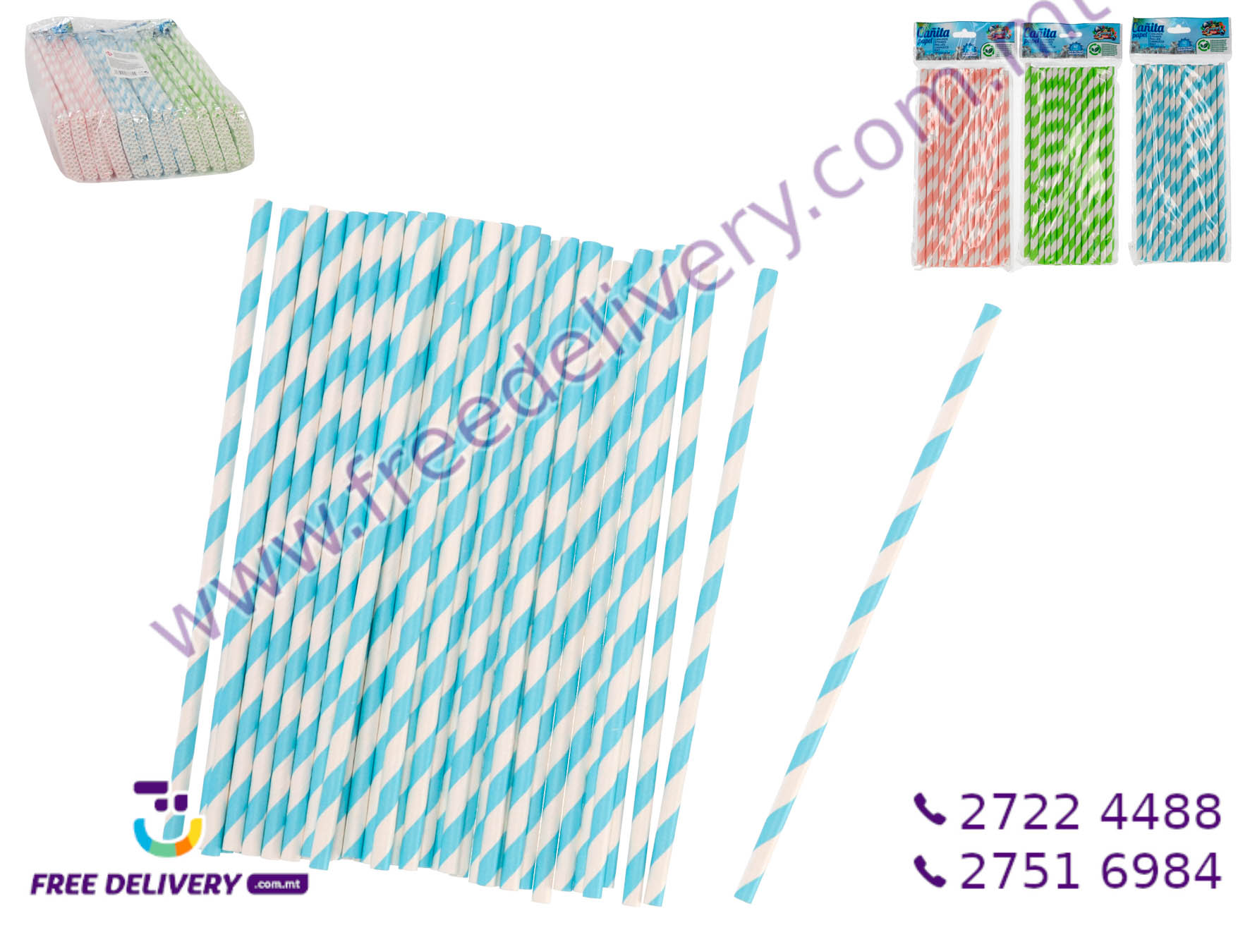 40 PAPER STRAW SET 20CMx0.6CM GE877824