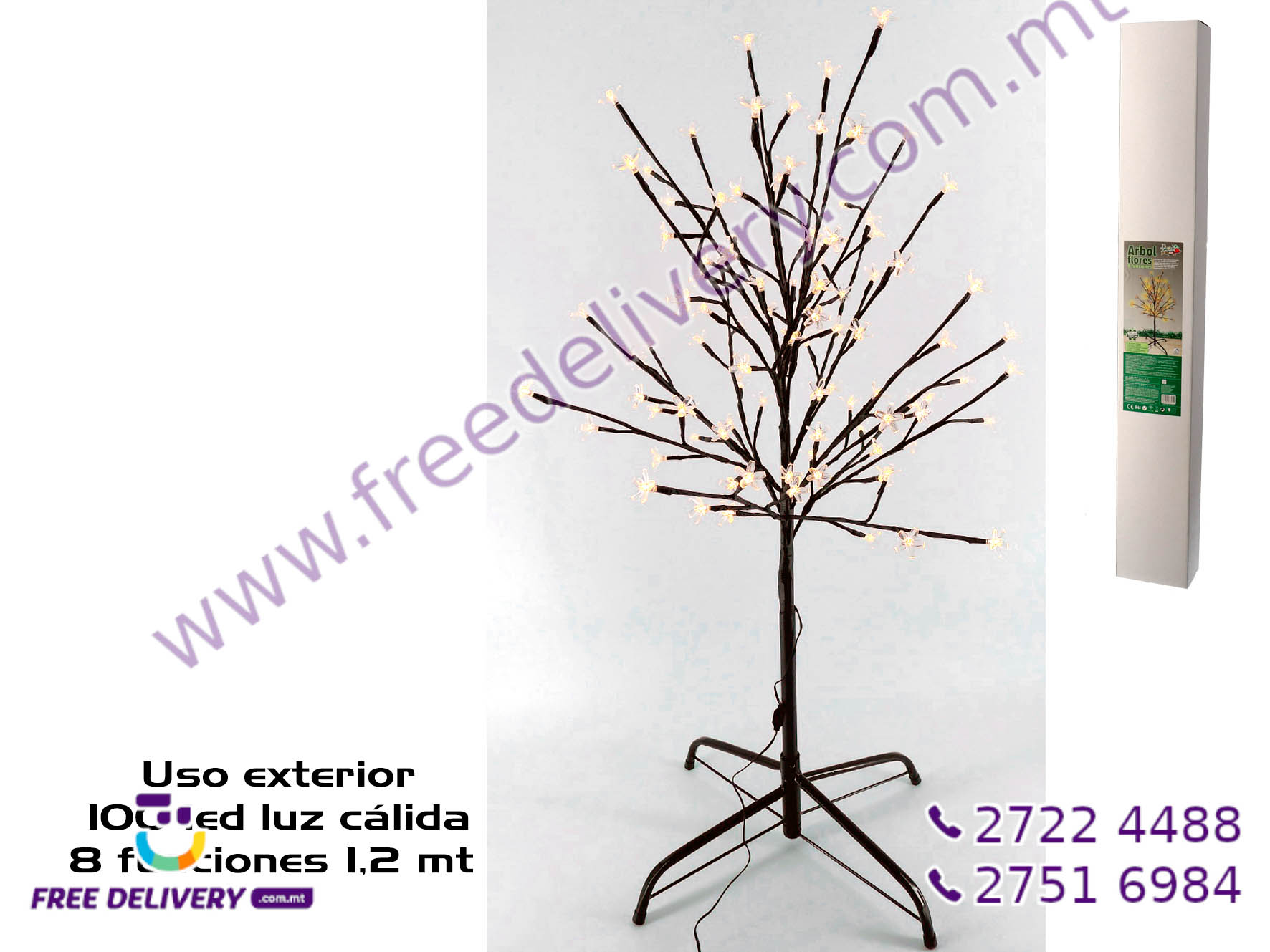 100 WARM LED TREE GE885652