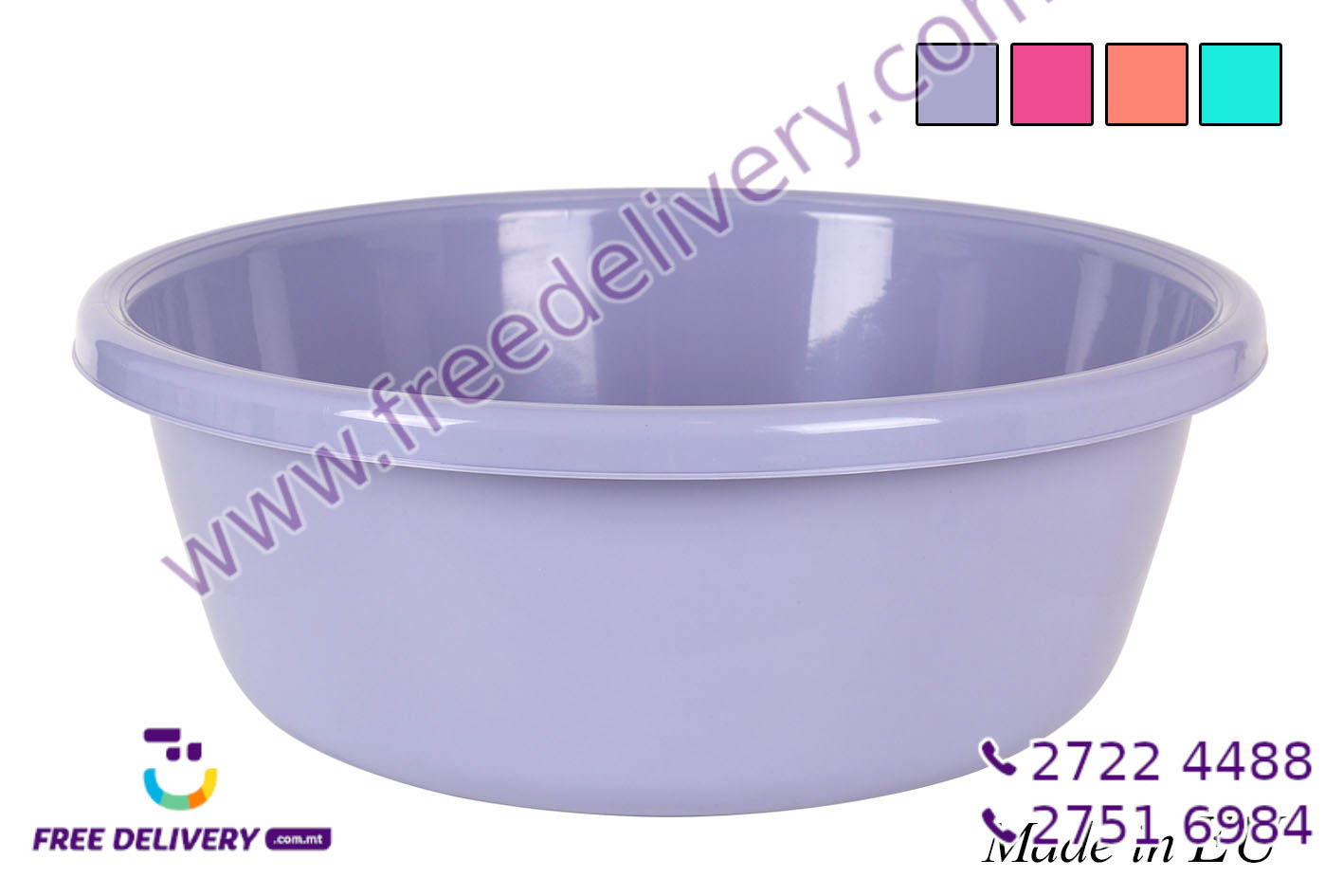 ROUND WASHBOWL 15L COLORS IN893212