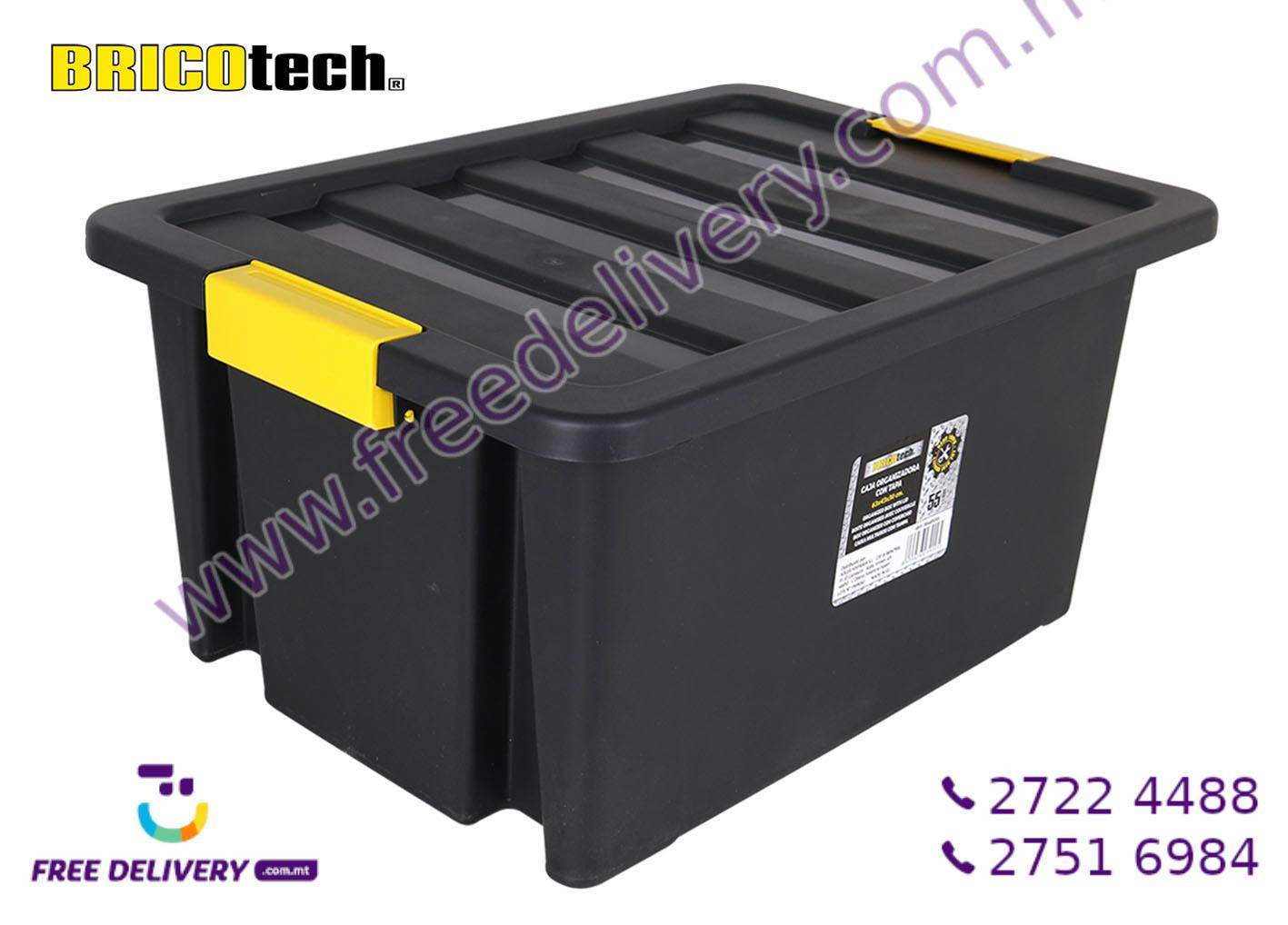 BLACK STORAGE BOX 55L IN239005
