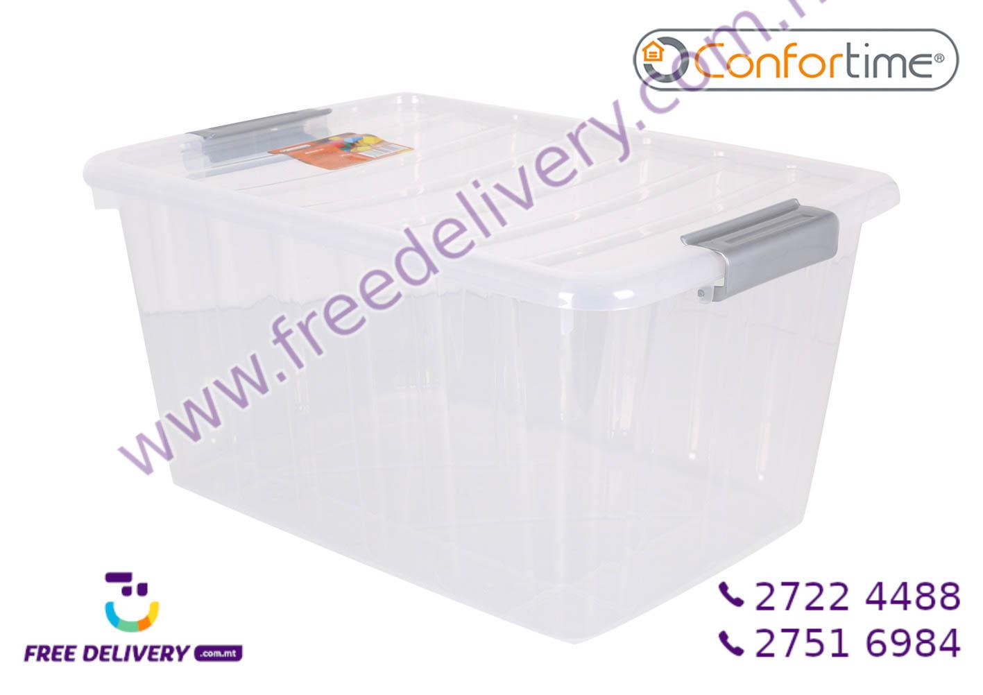 CLEAR STORAGE BOX 30L IN239296