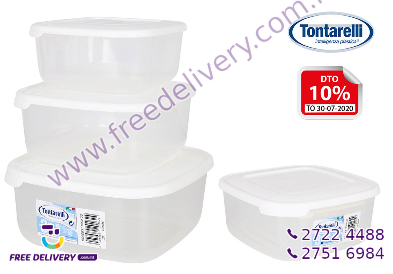 3 FOOD CONTAINER SET IN201624