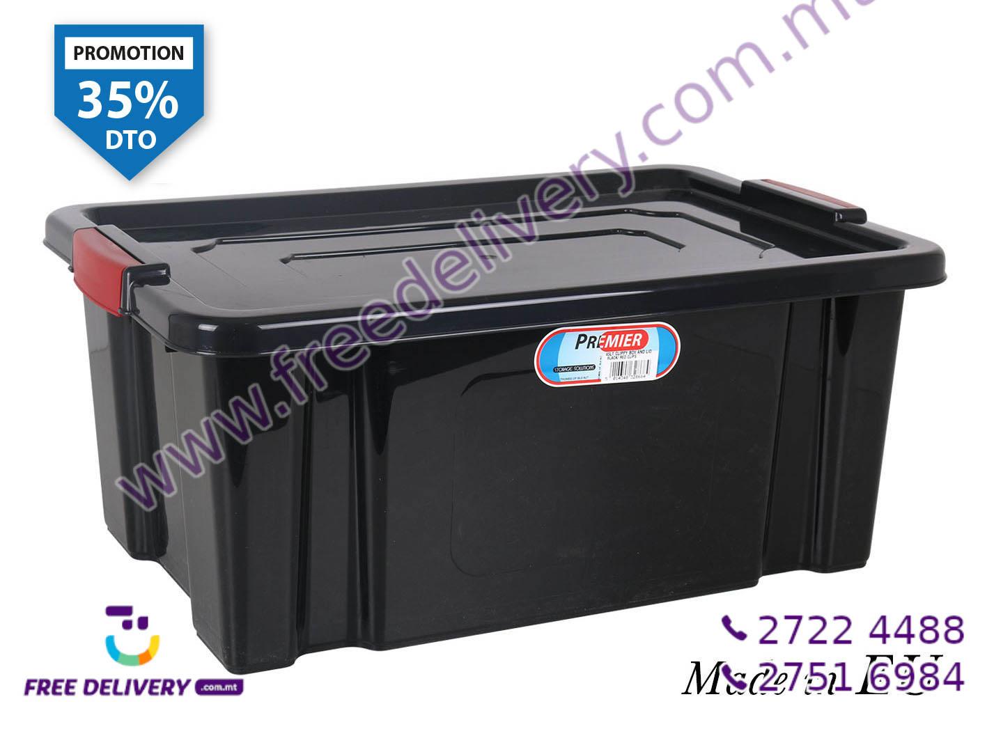 BLACK STORAGE BOX 45L IN328684
