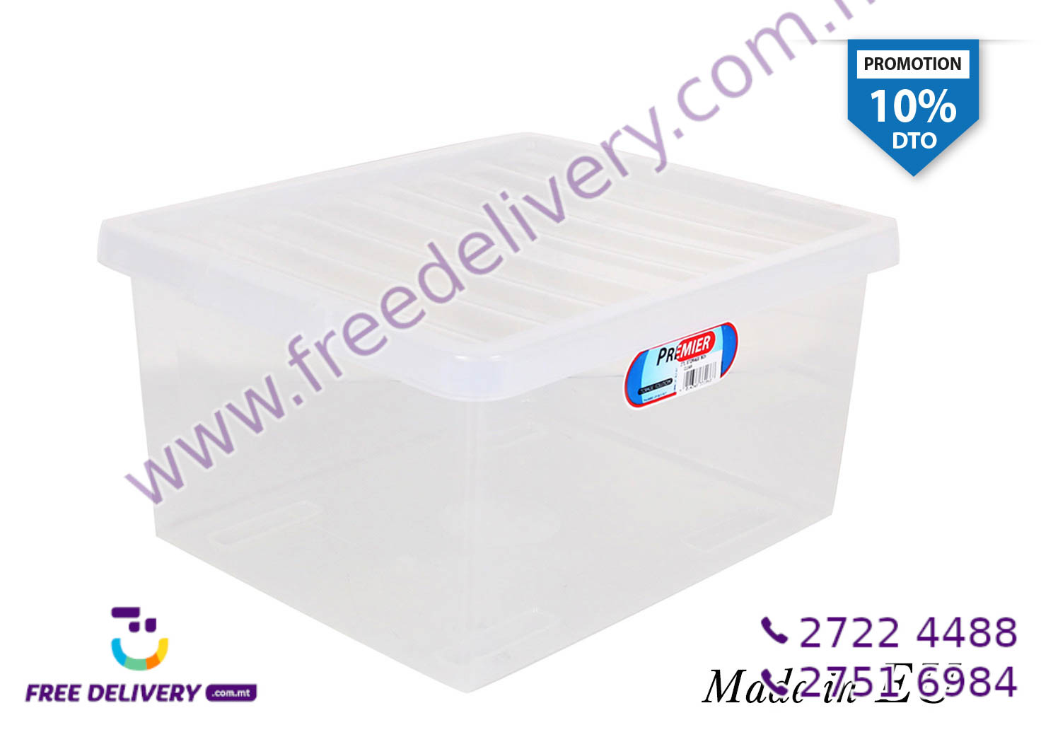 CLEAR STORAGE BOX 27L IN331868