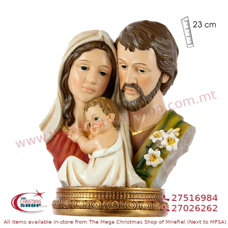 BUST STATUE OF HOLY FAMILY. JA143567