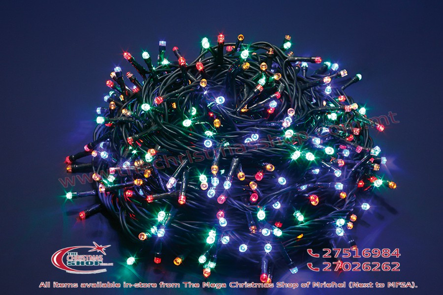 100 LED MULTICOLOUR MEMORY FAIRY LIGHTS. INDOOR AND OUTDOOR USE. PAR567671
