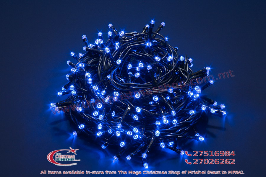 180 LED BLUE MEMORY FAIRY LIGHTS. INDOOR AND OUTDOOR USE. PAR567787