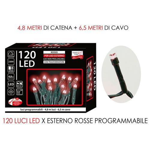 120 RED LED FAIRY LIGHTS. INDOOR AND OUTDOOR USE. GE279233