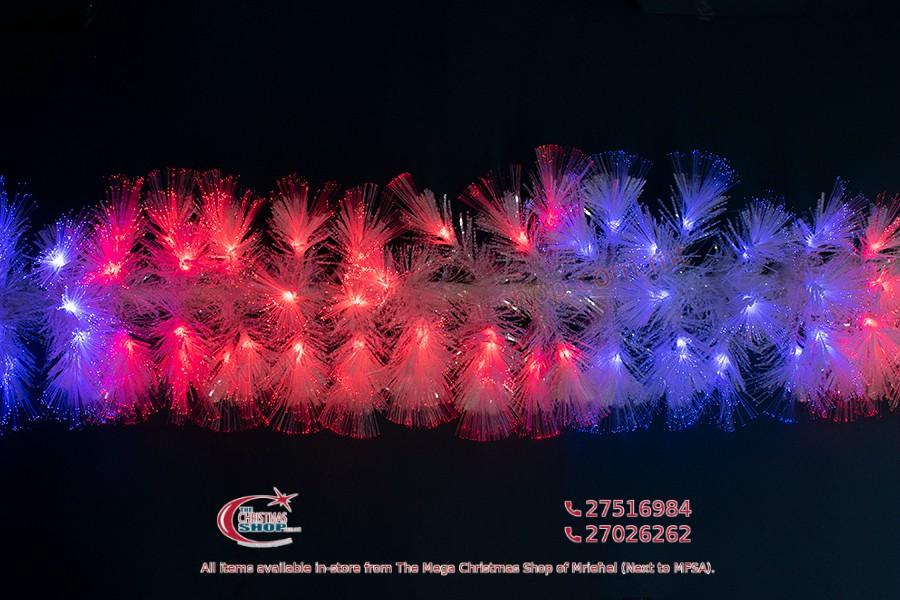 WHITE FIBER OPTIC GARLAND. 200CMS. 112 LED. MULTICOLOUR. PAR563062