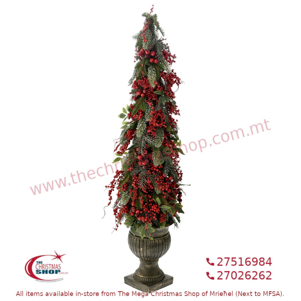 LARGE CHRISTMAS DECORATION WITH POT. 150CMS. IL724057