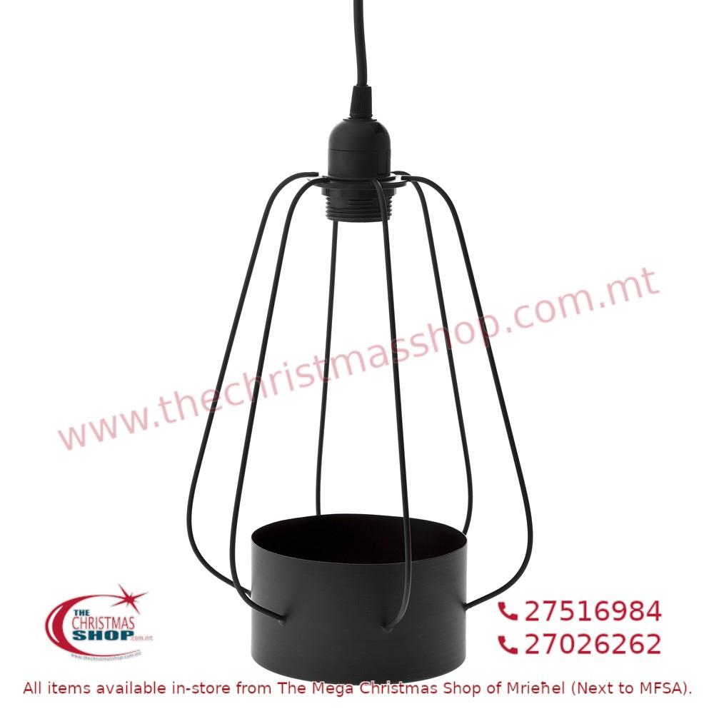 HANGING DECO BLACK METAL LAMP. IL727898