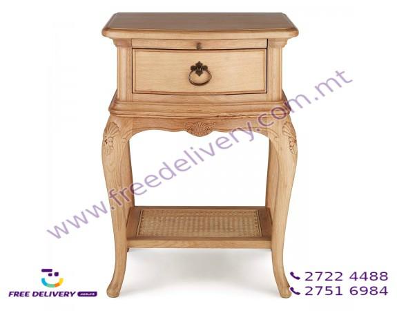 CHARLOTTE FRENCH DESIGN BEDSIDE TABLE. DJ7