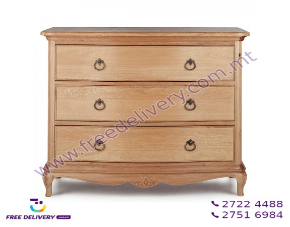 CHARLOTTE FRENCH DESIGN CHEST OF DRAWERS. DJ9