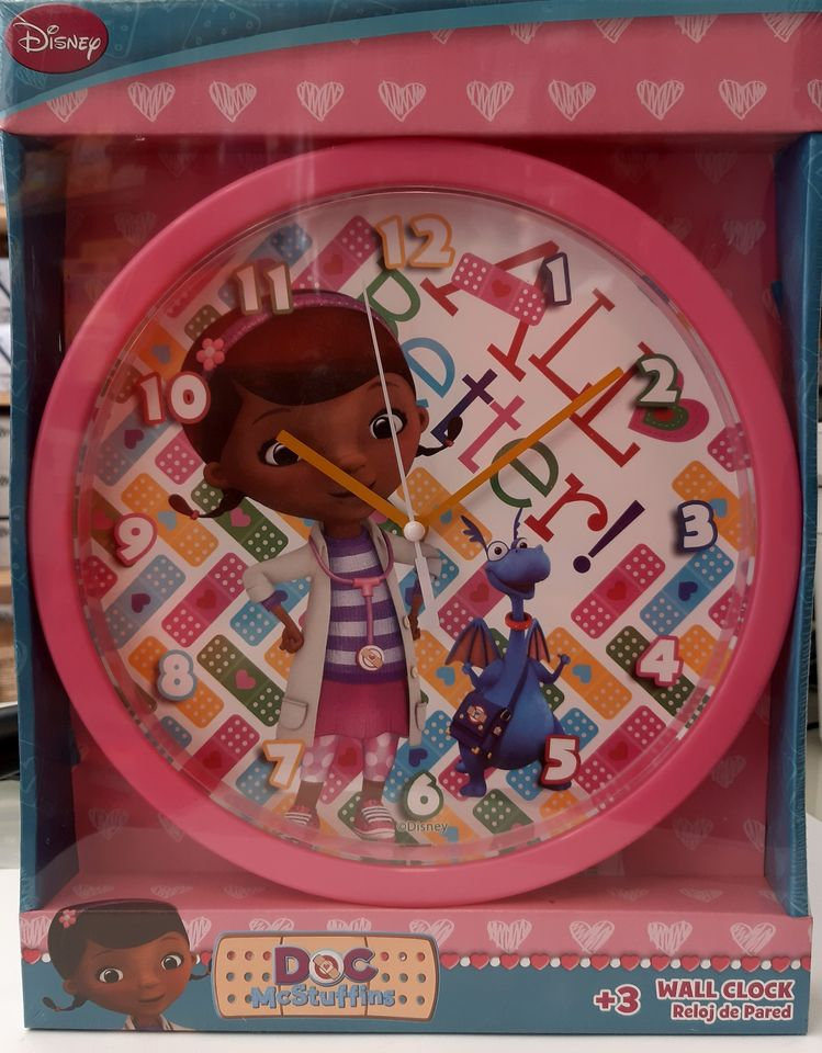 DISNEY DOC MCSTUFFINS WALL CLOCK 25 X 25 807880