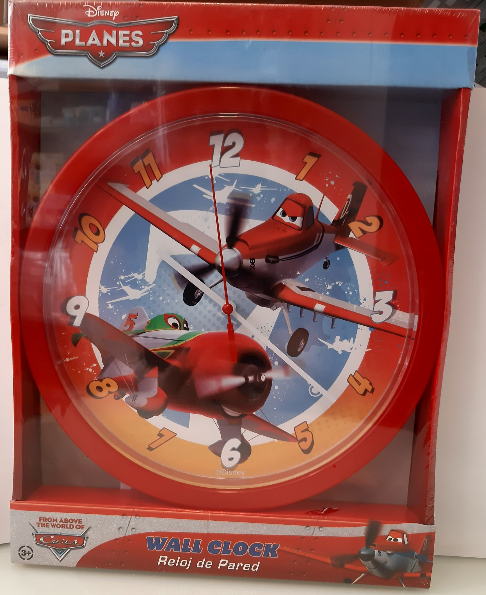 DISNEY FROM ABOVE THE WORLD OF CARS WALL CLOCK 803189