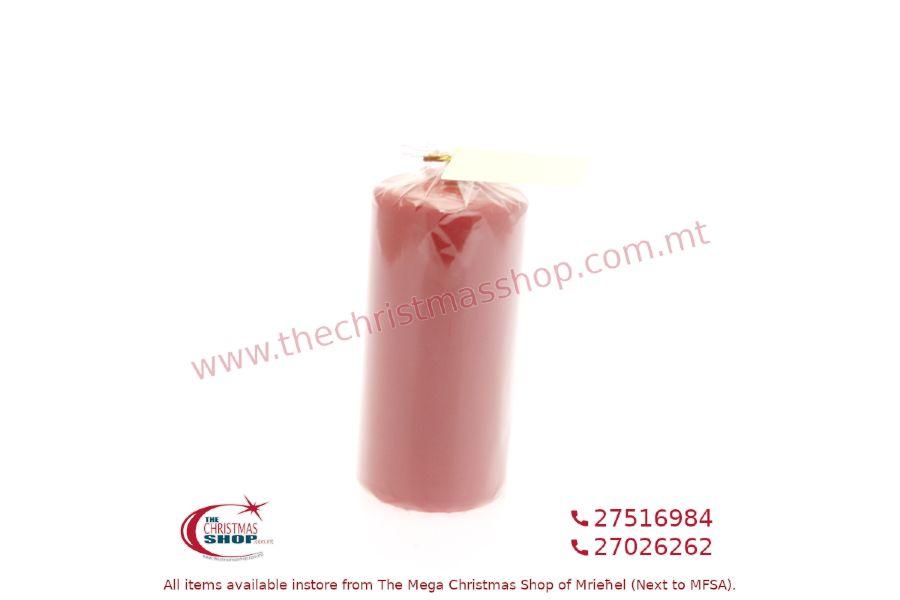 RED CANDLE 15X7CM. PAR812569