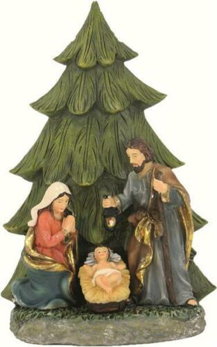 HOLY FAMILY UNDER CHRISTMAS TREE. DEK095616