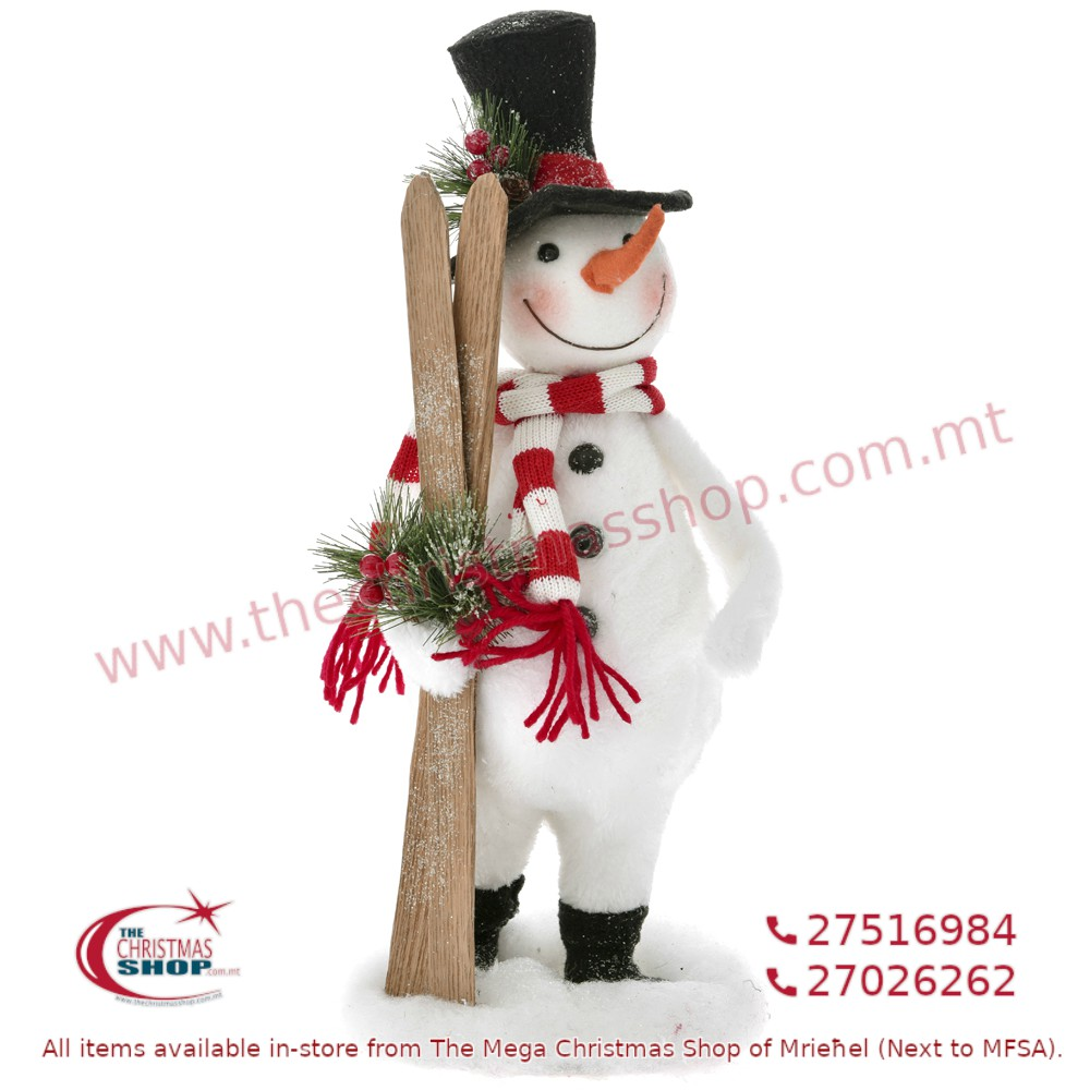 STANDING SNOWMAN WITH SKI'S. IL675106