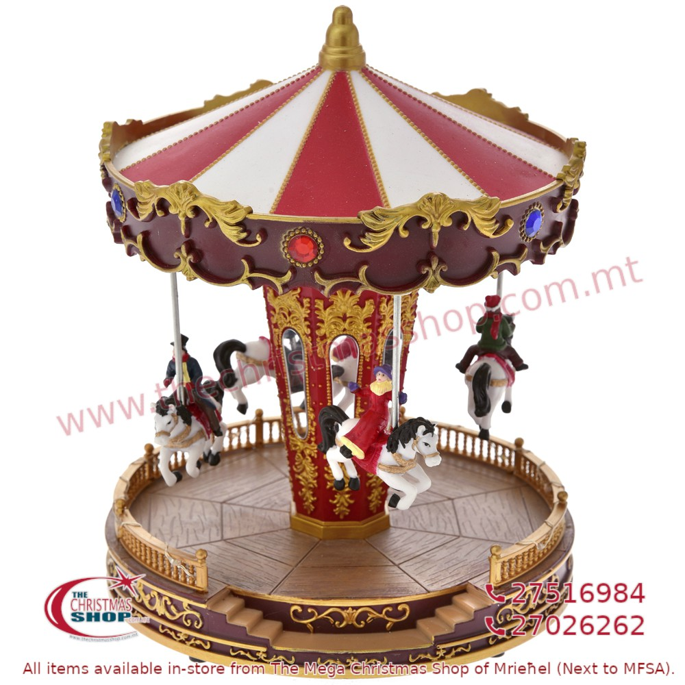CHRISTMAS CAROUSEL WITH LIGHT MUSIC AND MOVEMENT. IL681404