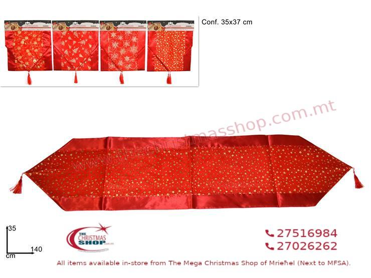 RED TABLE RUNNER. DE261305