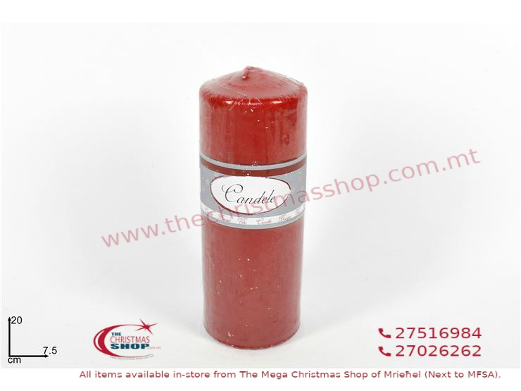 RED CHURCH CANDLE. DE610042