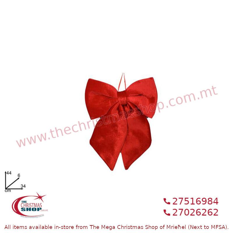 RED VELVET BOW 34CM. DE957369